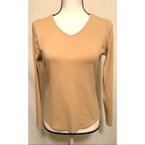 Ann Taylor size medium tan long sleeve tee shirt